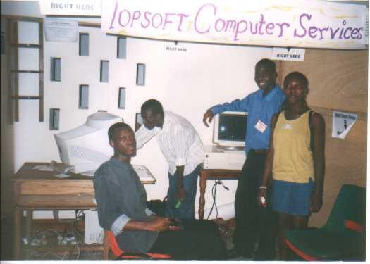 Topsoft, the first company Eyram started with his friends